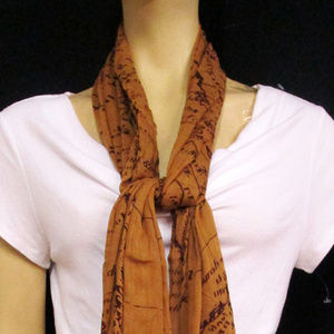 Patricia Nash Women's Scarf Rust One Size
